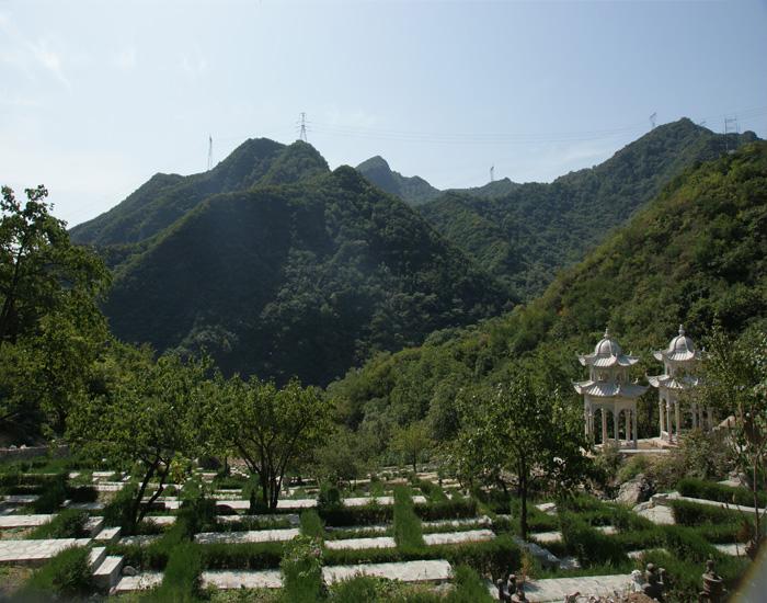 北京怀柔九公山长城纪念林-陵园景观